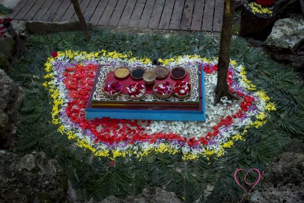 Altar de ceremonia maya en Riviera Maya