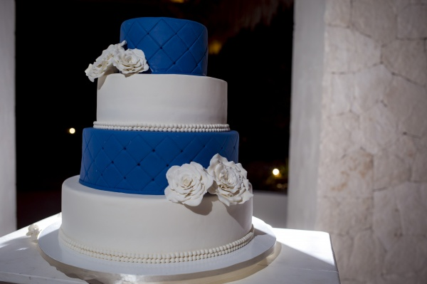 Navy blue wedding cake fondant