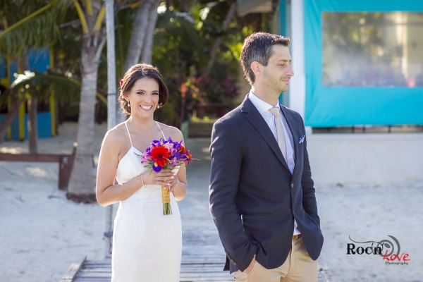 First look bride Riviera Maya wedding