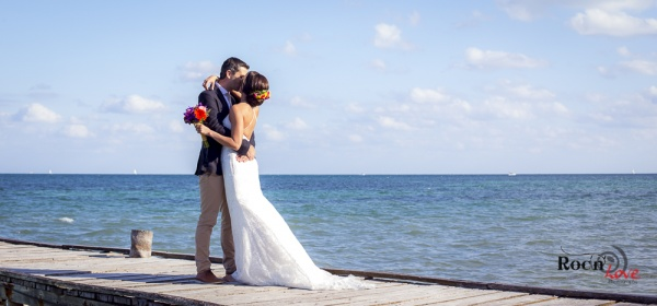Bride and groom Riviera Maya wedding