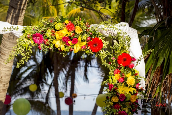 Mexican wedding arch ceremony