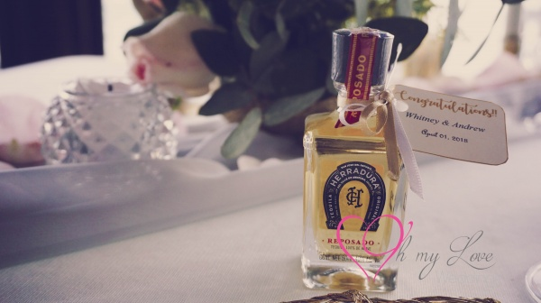 Botellitas de tequila como recuerdo de bodas