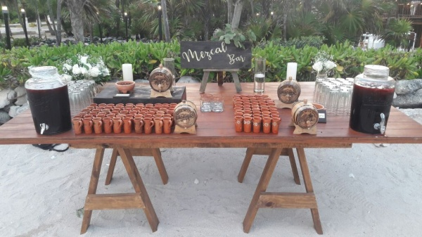 Mezcal bar Tequila bar Grand Sirenis Riviera Maya weddings