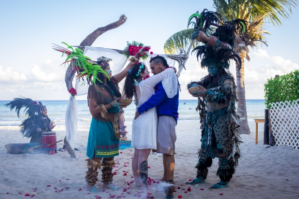 Mayan wedding Riviera Maya
