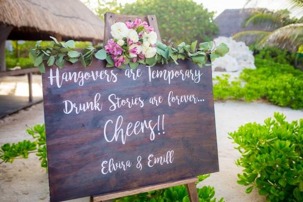 wedding sign punta venado
