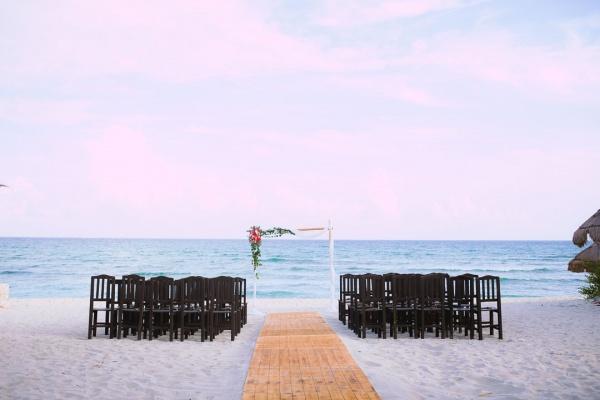 set up wedding punta venado venue