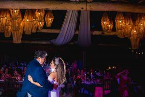 father and bride dance punta venado venue