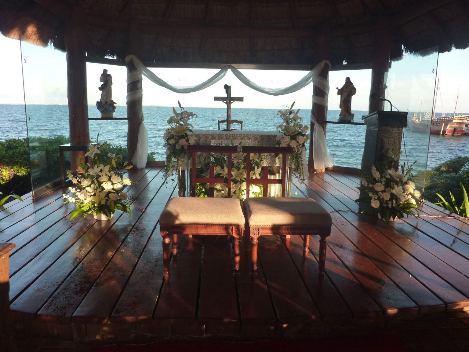 capilla maria estrella de mar cancun