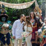 ceremonia maya en cenote buho riviera Maya