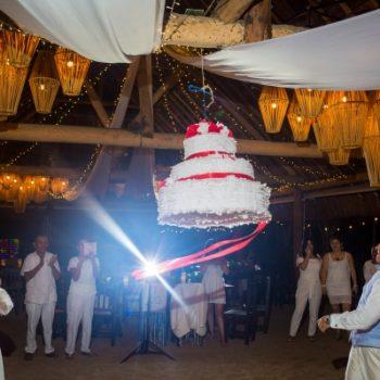 piñata cake wedding punta venado venue